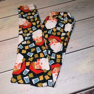 LuLaRoe Adult TC Holiday Leggings OS